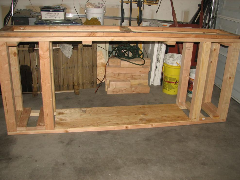 Building A Stand For A 210 Gallon Fish Tank Drilled For