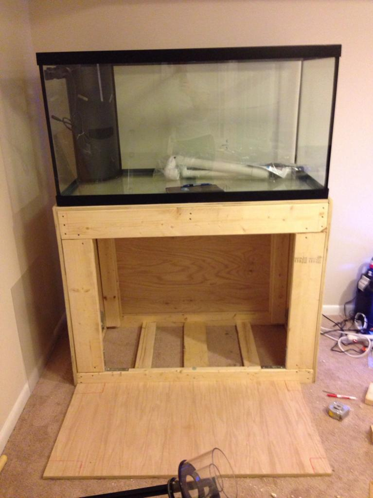 Judge my diy gallon stand reef saltwater and
