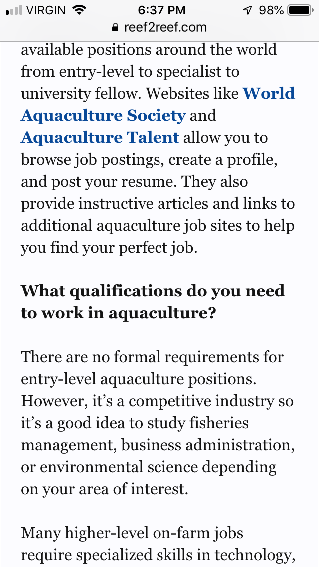 Living the Dream: How to Get a Job in Aquaculture