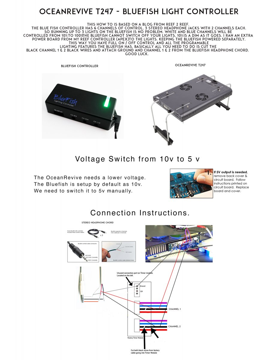 Bluefish Led Controller Wiring Diagram House Symbols Tube Light Canopy Build Oceanrevive T247 Rh Reef2reef Com Driver Motor