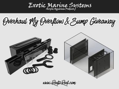 It's the EXOTIC MARINE SYSTEMS OVERHAUL MY OVERFLOW & SUMP GIVEAWAY!!
