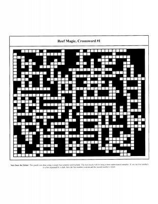Reef2Reef's First Ever Crossword: Reef Magic