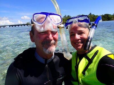 Ron and Elaine snorkeling.JPG