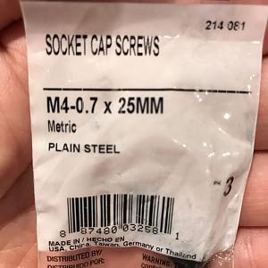 M4 sized screws
