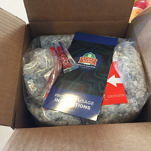 Algae Barn Box with insulation around packet