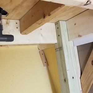 sump area pre-plumbing