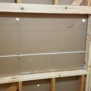 finished wall framing