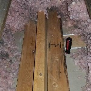 truss locating in attic
