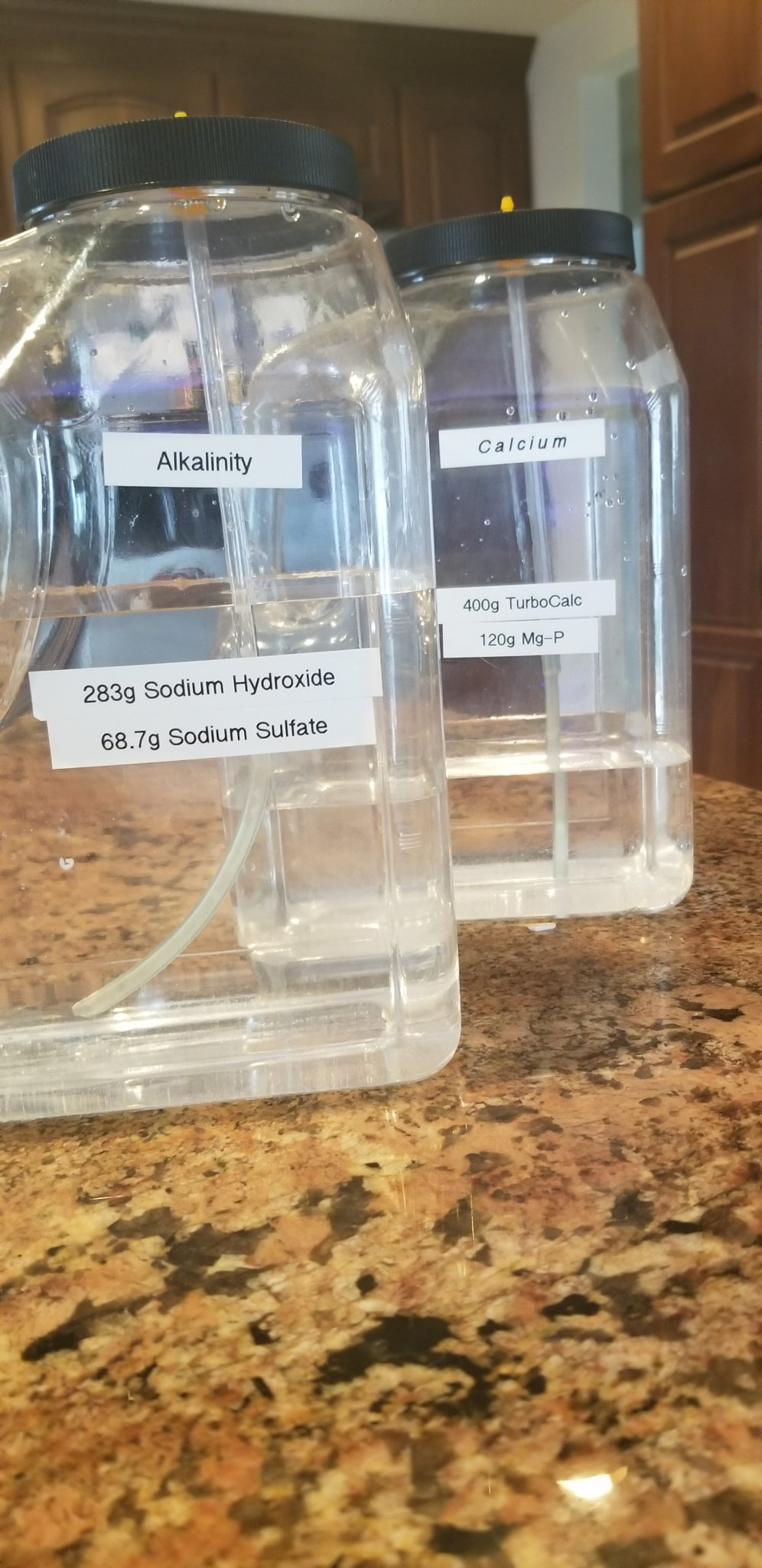 High pH diy two part dose conatainers